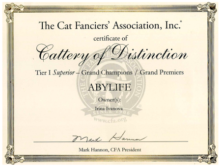 Cattery of Distinction